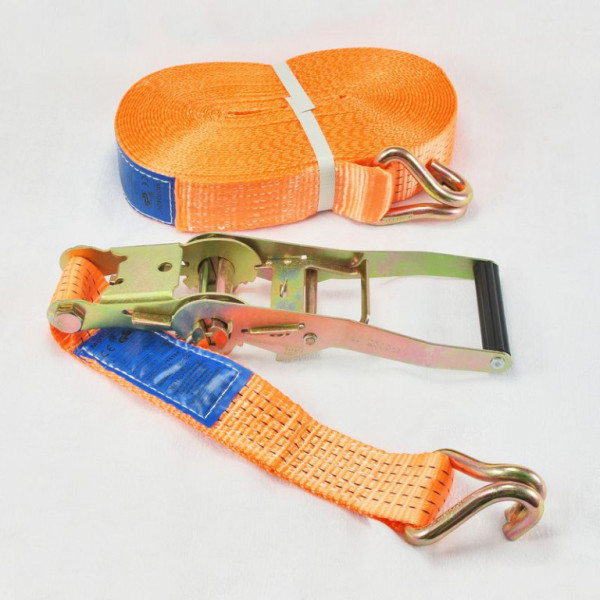 LASHING BELT 5t/10m WITH HOOK AND RATCHET