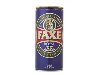 FAXE  Royal Export pivo- plech - 1L
